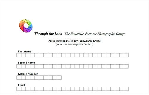 membership form of through the lens