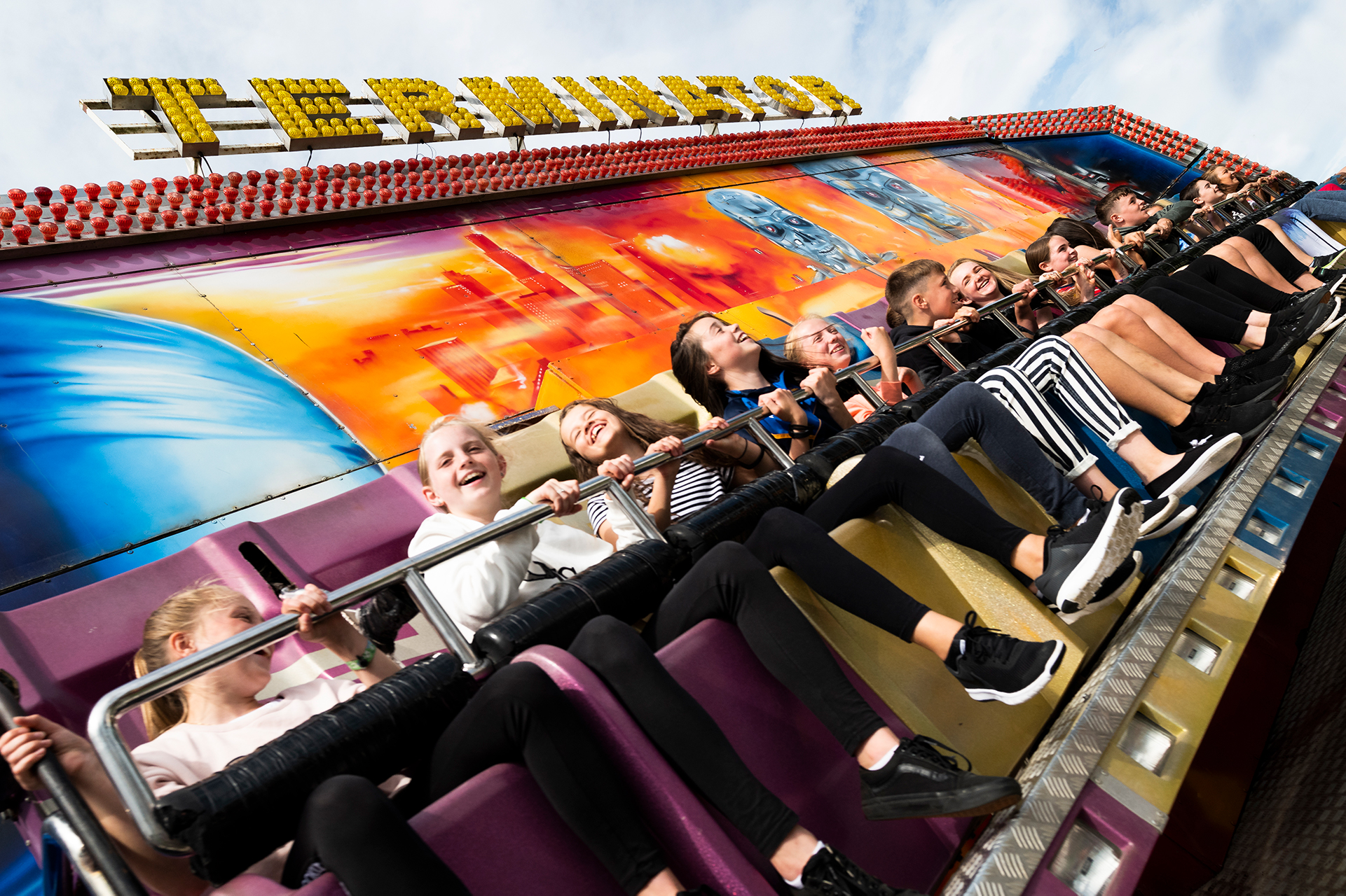 teenagers at a theme park in ireland